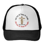 WITH GOD CROSS Lung Cancer T-Shirts & Gifts Trucker Hat