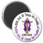 WITH GOD CROSS Lupus T-Shirts & Gifts Magnets