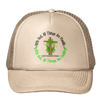 WITH GOD CROSS Muscular Dystrophy TShirts & Gifts Trucker Hat
