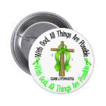 WITH GOD CROSS Non-Hodgkin's Lymphoma T-Shirts 6 Cm Round Badge