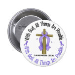 WITH GOD CROSS Oesophageal Cancer T-Shirts & Gifts Badge