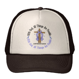 WITH GOD CROSS Prostate Cancer T-Shirts & Gifts Trucker Hat