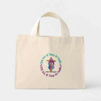 WITH GOD CROSS THYROID DISEASE T-Shirts & Gifts Mini Tote Bag
