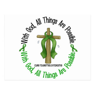 With God Cross Tourette s Syndrome Postcard