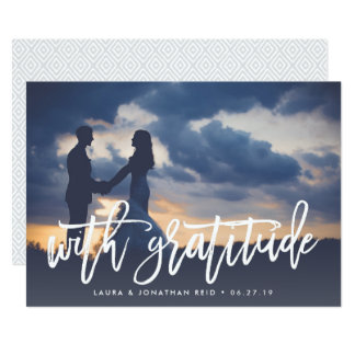 With Gratitude | Photo Thank You w/ Back Message Card