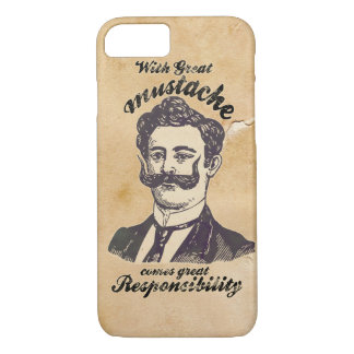 With great mustache comes great responsibility. iPhone 8/7 case