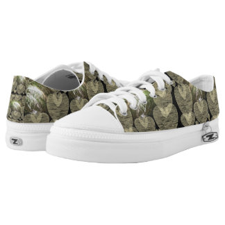 With heart low tops