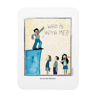 WITH HIM cartoon by Ellen Elliott Rectangular Photo Magnet
