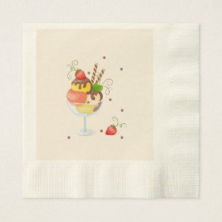 with hoists cream strawberry disposable serviette