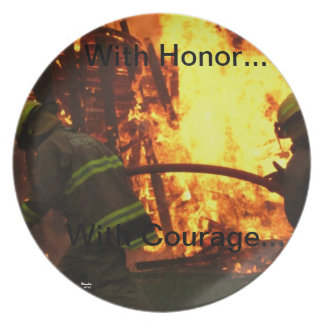 With honor...with courage... dinner plates