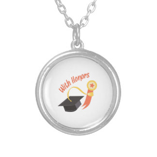 With Honors Round Pendant Necklace