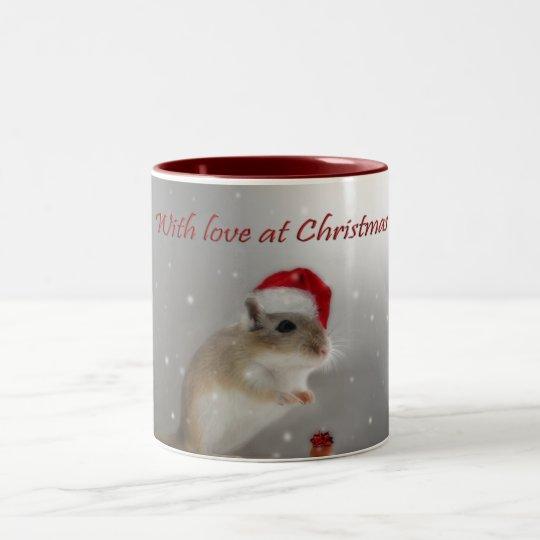 With Love at Christmas Two-Tone Coffee Mug