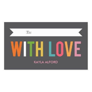With Love Custom Gift Tags Business Card Templates