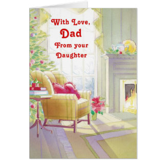 With Love Dad From Your Daughter Card