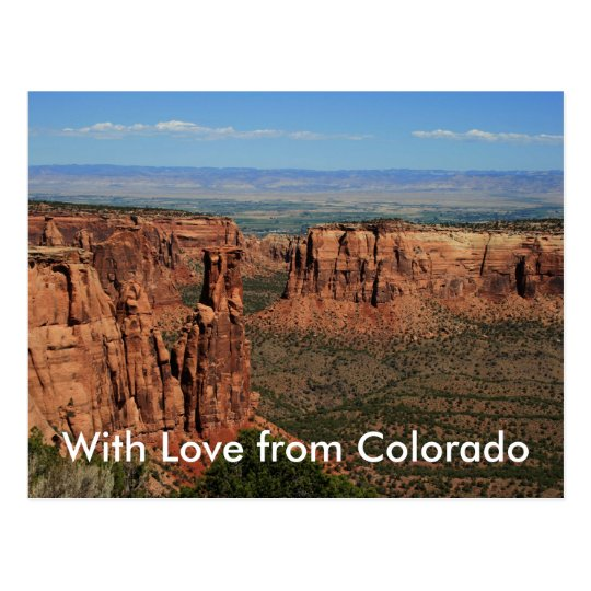 With Love from Colorado Postcard