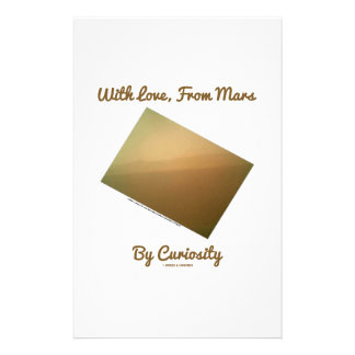With Love, From Mars By Curiosity (Mars Landscape) Customised Stationery