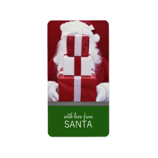 With Love From Santa Christmas Gift Tags Address Label