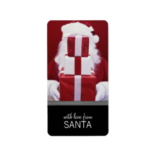 With Love From Santa Holiday Tags Address Label