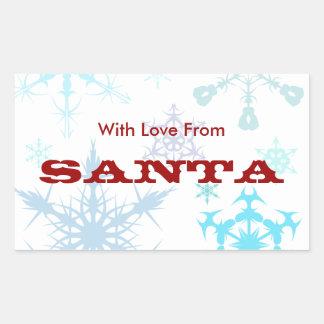 With Love From Santa Rectangular Sticker