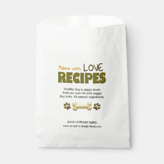 With Love-Puppy Dog Treats-CUSTOM FAVOR BAGS Favour Bags