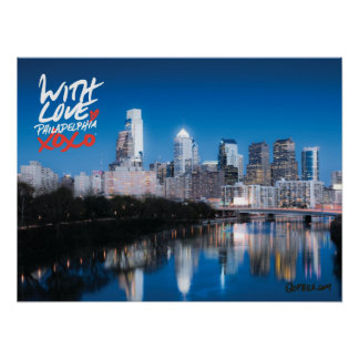 "'With Love' Skyline Poster, 18"" x 24"" Poster"