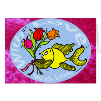 With Love Sparky Fish cute funny comic Gift Greeting Card