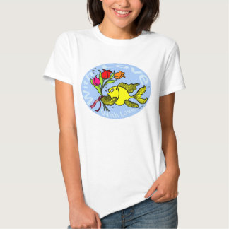 With Love Sparky Fish cute funny comic Gift Tshirts