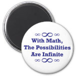 With Math, The Possibilities Are Infinite Fridge Magnet