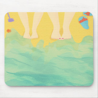 With mommy on the beach Mousepad