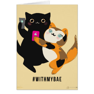 With My Bae Basic Cats Card