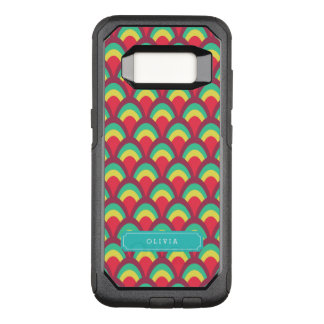 with Name Colorful Geometric Pattern OtterBox Commuter Samsung Galaxy S8 Case