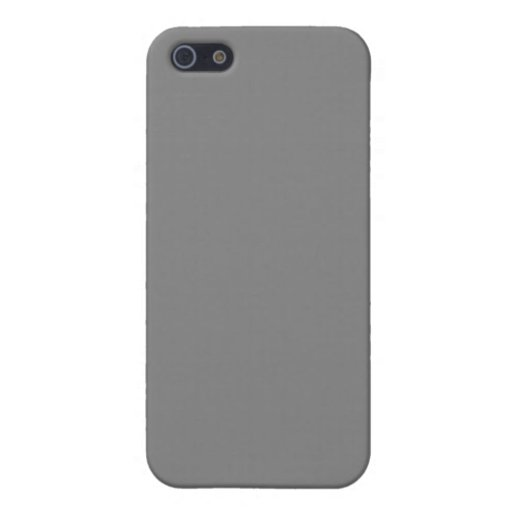 With Nothing On It Except Color - Dark Gray iPhone 5 Covers