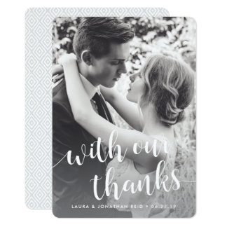 With Our Thanks | Photo Thank You w/ Back Message Card