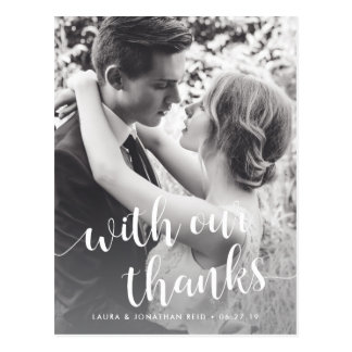 With Our Thanks | Wedding Photo Thank You Postcard