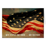 With Respect, Honour  - Thank You Veterans Day Greeting Card