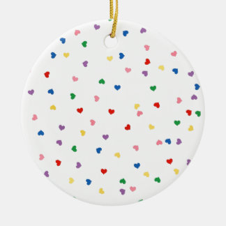 with small hearts round ceramic decoration