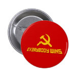 With Socialism Everybody Wins! Government Satire Badge