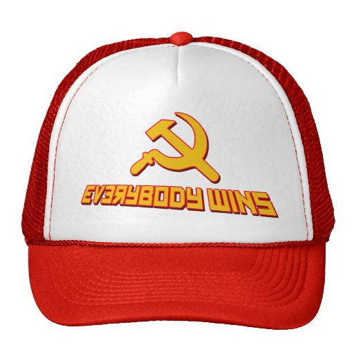 With Socialism Everybody Wins! Government Satire Trucker Hats