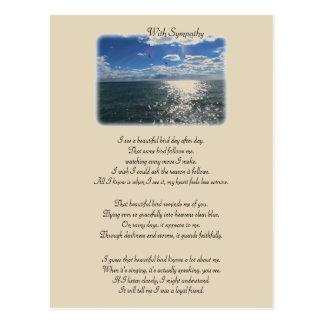 With Sympathy: Beautiful Bird Postcard