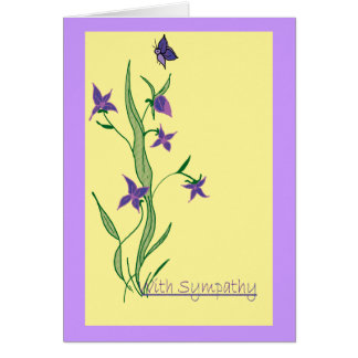 With Sympathy blank note card