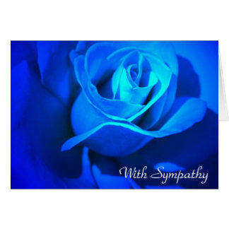 With Sympathy Blue Rose Card