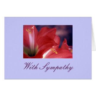 """With Sympathy"" Card"
