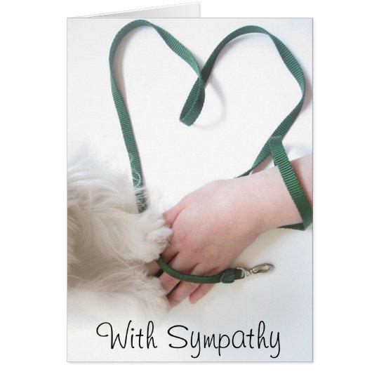 With Sympathy Card
