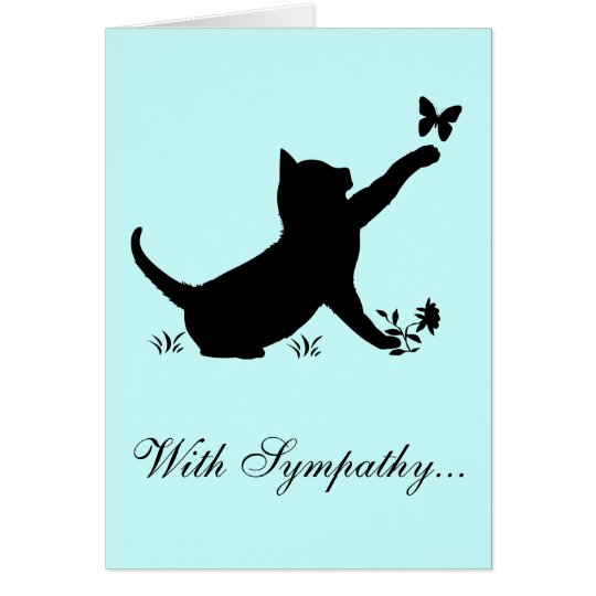 With Sympathy Loss of a Cat Card