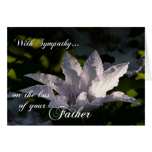 With Sympathy on loss of Father-Flower+Scripture Cards
