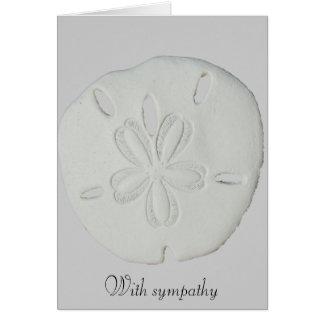 With Sympathy Sand Dollar Card