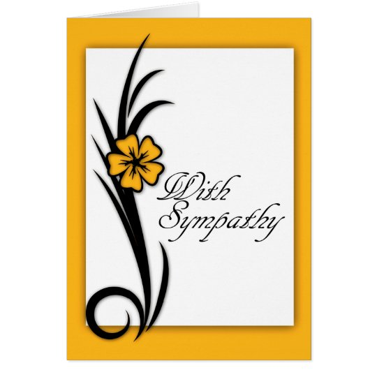 With Sympathy, understated, simple, stylish Card