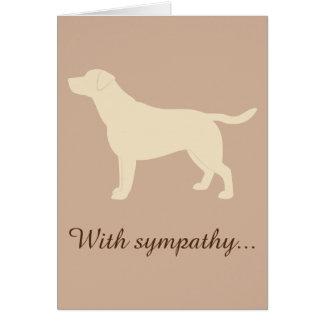 With Sympathy Yellow Labrador Retriever Dog Card