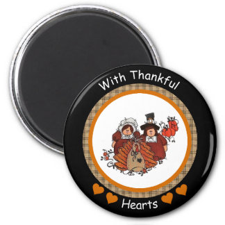 With Thankful Hearts Magnet