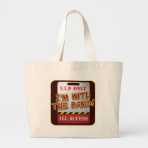 With The Band backstage Pass Large Tote Bag